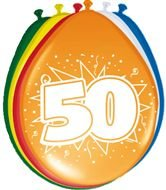 Folat 8Globos Número 50cumpleaños