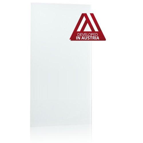 Infrarotheizung Glas rahmenlos, weiß, 800 Watt