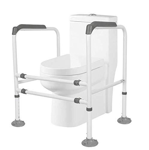 zhangchao Stand-Alone-wc-schiene - Medical Bathroom Safety Assist-Rahmen Mit Haltegriffgriffen Und -geländern Für Senioren, Senioren, Behinderte Und Behinderte -,Gray -