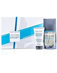 Issey Miyake LEau dIssey Pour Homme Sport : Edt Spray 50ml + All Over Shampoo 50ml + Bag 2pcs+Bag