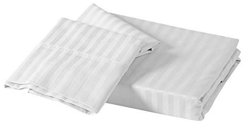Just Contempo 250 fili lenzuolo in raso per letto matrimoniale King-size, colore: bianco