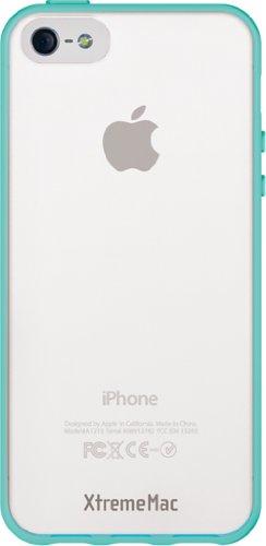 XtremeMac IPP-MAN-73 Microshield Accent Schutzhülle für Apple iPhone 5 rot/orange Türkis/Weiß