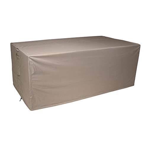Raffles Covers NW-RLB160straight Wetterschutz für Lounge Sofa 160 x 95 H: 75 cm Loungesofa Abdeckung, Schutzhülle für Gartensofa, Wetterschutz für Rattan Garten Lounge