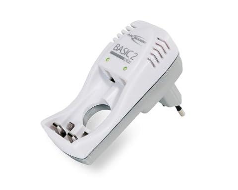Ansmann Basic 2 Plus Chargeur de batterie pour accus/batteries rechargeables de 1-2 éléments format LR03 ou LR6