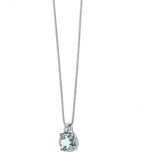 Collana donna gioielli comete fantasia di acquamarina classico cod. glq 264