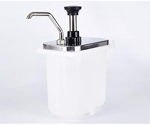 YJINGRUI Eimer Sauce Spender Pumpe Gewürzspender Spender Maschine Schokolade Sauce Marmeladenfüller mit Pumpkopf, 2L Steel Pump Head -