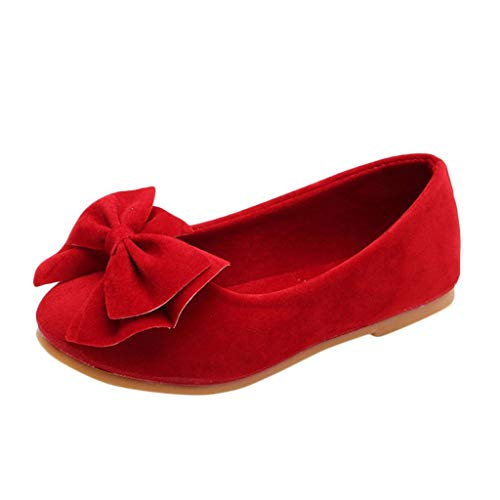 BaZhaHei Baby Prinzessin Schuhe, Mädchen Festliche Kinder Ballerinas Schuhe für Partys und Freizeit in Vielen Farben Bowknot Dance Nubukleder Einzelne Schuhe Stiefeletten ()