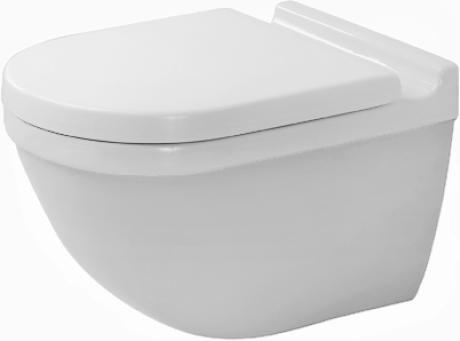Duravit Wand WC (ohne Deckel) Starck 3 54cm Tiefspüler, weiß mit WonderGliss 22250900001 unsichtbare