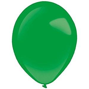 amscan 9905344 - Globos de látex (100 Unidades), Color Verde