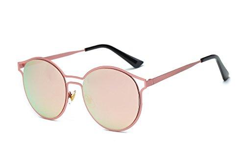 YWLINK Strand Urlaub StraßE Eyewear Mode Herren Damen Vintage Runde Sonnenbrillen Retro Farbverlauf