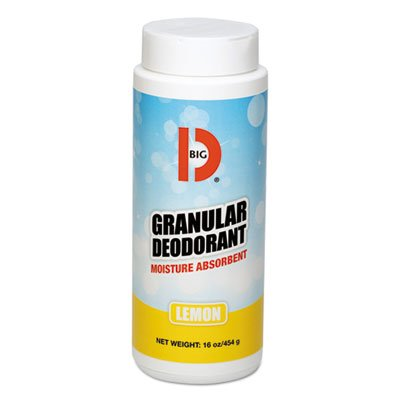 Big D Industries Granulat Deodorant, Zitrone, Klauenhammer,, Shaker kann, 12/Carton -