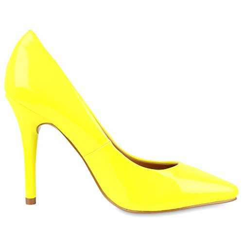napoli-fashion , Coupe fermées femme jaune fluo