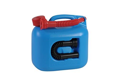 Preisvergleich Produktbild Kraftstoff-Kanister PREMIUM 5l für Benzin, Diesel und andere Gefahrgüter, UN-Zulassung, made in Germany, TÜV-geprüfter Produktion, blau