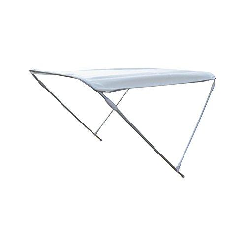 ORANGEMARINE Bimini 2 arceaux - BLANC - 130x110x180 cm