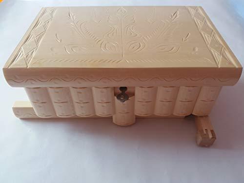 Sehr groß Puzzle kasten Magie Schmuck Box Premium Schatz Geschenk neu groß Kiste natur handgemachte Geheimnis Fall geschnitzt aus Holz Aufbewahrungsbox Gehirn Teaser (Natur-geschenk-box)