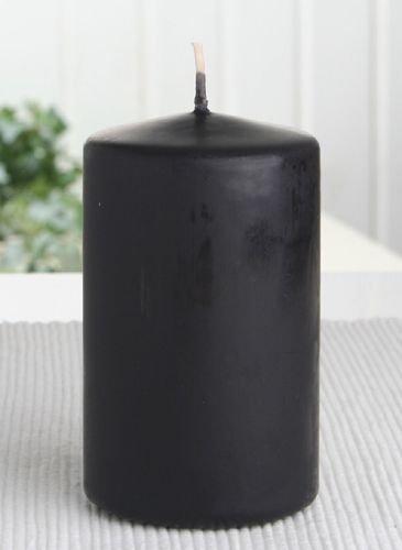 Stumpenkerze 10 x 6 cm Ø, Schwarz