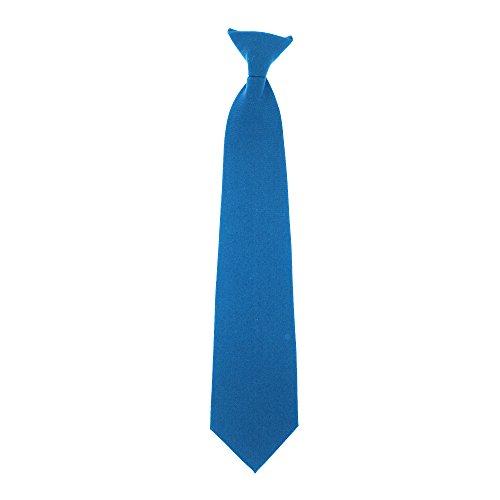 Yoko - Corbata Quita y Pon Modelo Clip-on - Trabajo (Talla Única/Azul )