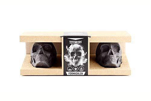3er Geschenkbox | Perfektes Grill Geschenk für Männer, Topping für den Grill, Mitbringsel zum Grillen, Gothic Deko, Halloween Deko, Totenkopf Deko ()