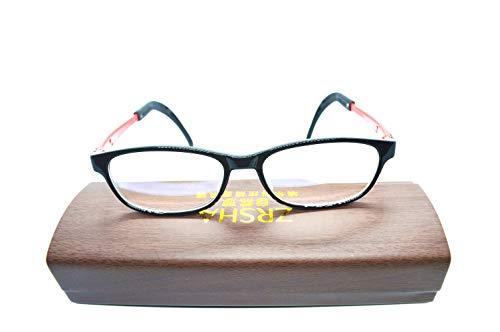 Otfi ZRSHA Kind Brille Extra Schmaler Rahmen! Slim Rechteck Nerd Clear Brille!Negatives Ion !schütze die Augen ! Müdigkeit lindern ! High-Tech-Brille!