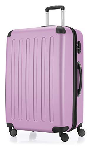 HAUPTSTADTKOFFER HAUPTSTADTKOFFER - Spree - Hartschalen-Koffer Koffer Trolley Rollkoffer Reisekoffer Erweiterbar, 4 Rollen, TSA, 75 cm, 119 Liter, Flieder