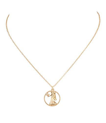 Sternzeichen, Jungfrau, Statement Kette, Anhänger, Symbol, Gold (758-936) ()