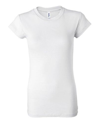 Bella Donna a coste, colore: trasparente White