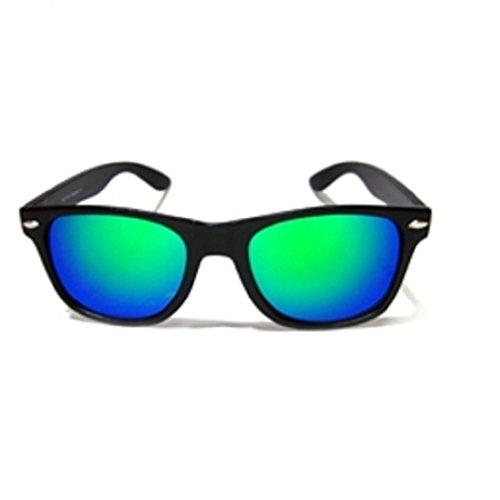 Unisex Wayfarer specchio Uomo Dona Occhiali Da Sole rispecchiata Mirror Sunglass Sport Protezione UV - 02 Specchio
