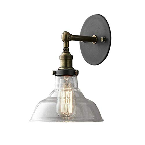 13dfc4171876 Lichtwall Light Bowl With Clear Glass Shade Mini Sconce Wall Lamp Classic  Retro Vintage Industrial Single Light
