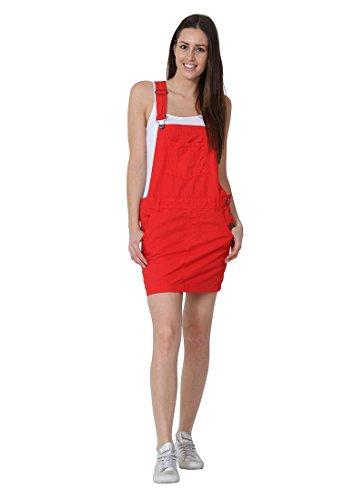 USKEES CLAIRE Kurze Latz Kleid übergroße Oversized Latzhosenkleid Damen-Latzklei CLAIRERED-10