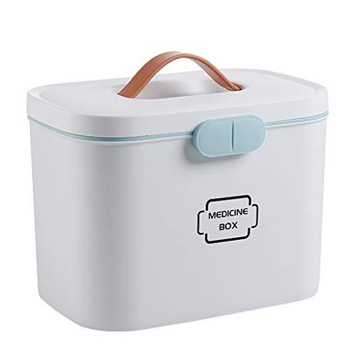Medizin-Box, Double-Layer GroßE Medizin Aufbewahrungsbox, Familie Erste-Hilfe-Box, Tragbare Medizinische Aufbewahrungsbox, FüR Zuhause, Reisen, Camping (Reise-medizin-schrank)