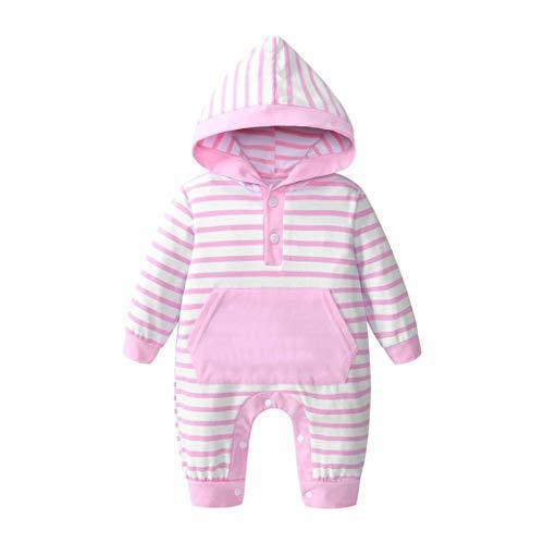 Babykleidung Shopaholic0709 3 Pcs babymode Baby Outfits Unisex Kleinkinder Streifen Jumpsuits...