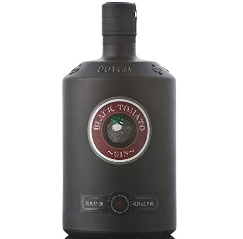 Black Tomato Gin - Distilled Spirit with Fresh Salt & Oosterschelde Water, Product of Netherlands, 42.3 {896ddc575f782e971b028b72e3e8ac0aa5da6ebc70699331e7dc950eb21a9679} vol. 700ml