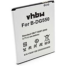 vhbw Li-Ion batería 2600mAh (3.7V) para teléfono móvil smartphone Doogee Dagger B-DG550, DG550 por H0403DG5500155.