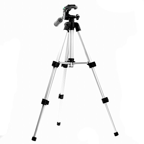 Trépied photo - vidéo. Charge jusqu'à 1 kg, pieds en aluminum, tête 3D et niveau à bull