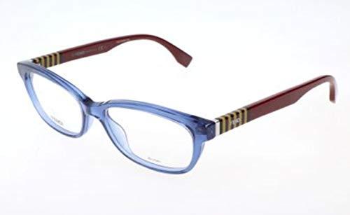 Fendi Damen FF 0015 7TR/16-52-16-140 Brillengestelle, Blau, 52