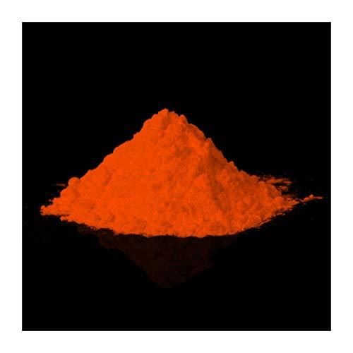 lumentics Glühpulver Orange - Leuchtpigmente, Selbstleuchtende Farbpigmente, Nachleuchtpulver,...