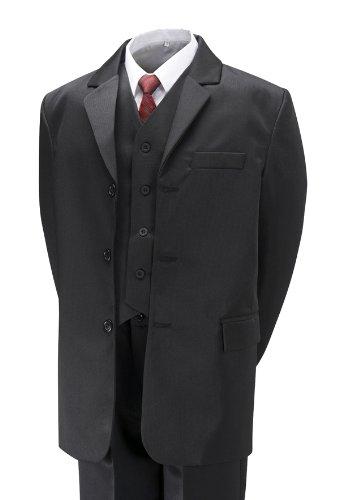 Jungen-Anzug (5 teilig), Schwarz, für 7-jährige (Anzug Schwarz 5 Stück)