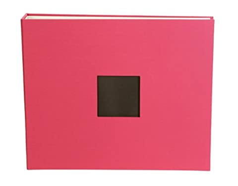 American Crafts 12 x 12-inch Cloth D-Ring Album, Taffy Pink