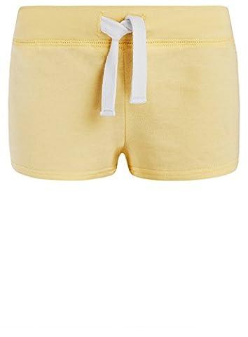 oodji Ultra Damen Jersey-Shorts Basic, Gelb, DE 36 / EU