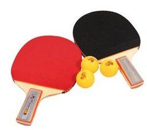 VDOTT® Racchetta da ping pong Set 2x Table Tennis Racket per (tavolo da ping pong racchetta e 3palline Ping Pong Palline da Tennis come regali)