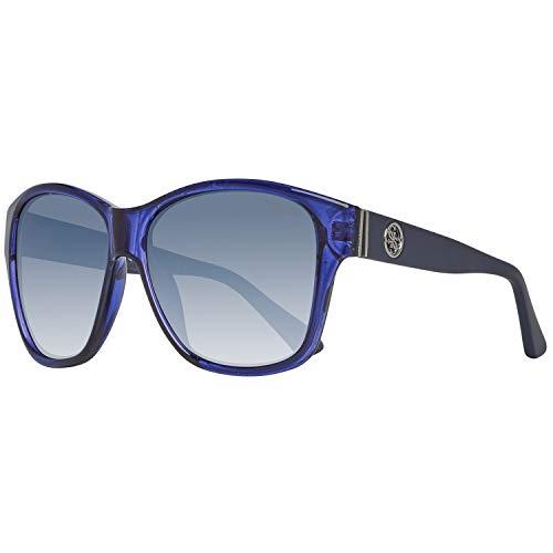 Guess Damen GU7412-5990X Sonnenbrille, Blau (Blue), 59