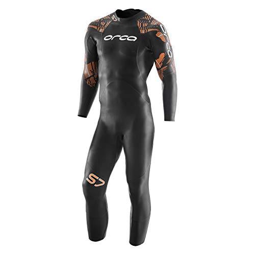 Orca S7 Herren Triathlon-Neoprenanzug Fullsleeve USAT Approved, schwarz, 11