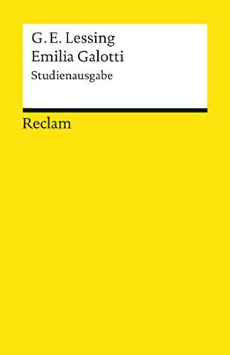 Emilia Galotti. Studienausgabe: Reclams Universal-Bibliothek
