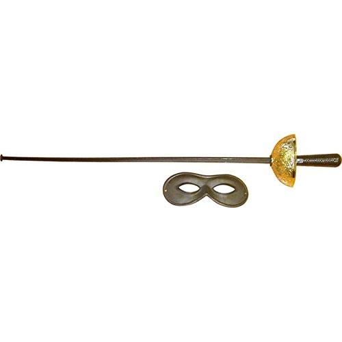 Unbekannt Giplam-Schwert Fioretto mit Maske (Samurai-kostüm Rangers Power Kinder Für)