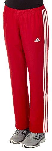 adidas Damen T16 Team Hose Rot/Weiß, M