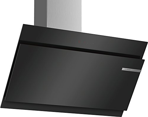 Bosch DWK97JM60 Dunstabzugshaube/Serie 6 Wandesse/90 cm/Schräg-Essen-Design/schwarz