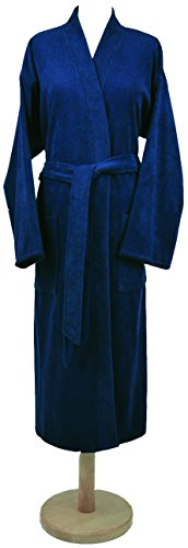 framsohn 70077/543/XXL Casa Bademantel, Baumwolle, jeans, 120 x 50 x 4 cm