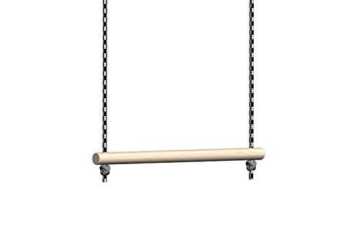 31oZSDTis L - BEST BUY #1 Trapeze Bar for Swing Set Without Rings - Bar Length 28 cm - For Indoor and Outdoor Use for Kids and Audults - Childrens Gym Pull up Trapeze Bar Is Made of Wood and Rope - Possible to Use for Home Bed Mobility Reviews and price compare uk
