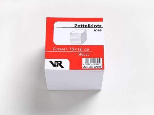 VR Viktor Richter Zettelboxeinlagen, 100 x 100 mm, holzfrei blanko weiß 10cm x 10 cm zum nachfüllen