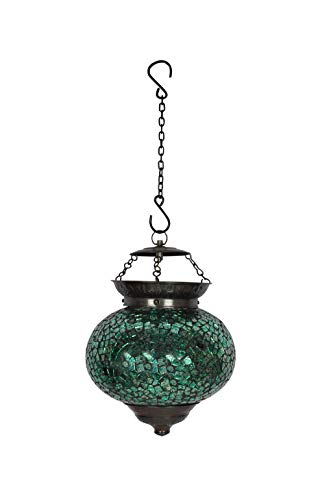 [Sponsored]Lal Haveli Mosaic Glass Pendant Hanging Lights For Ceiling Indoor Lighting 9 X 9 Inch